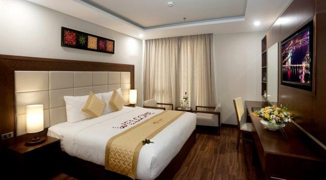 Phòng Superior được thiết kế nội thất ấm cúng với 1 giường đôi rộng rãi, đây là nơi thích hợp cho những du khách muốn yên tĩnh nghỉ ngơi sau ngày dài