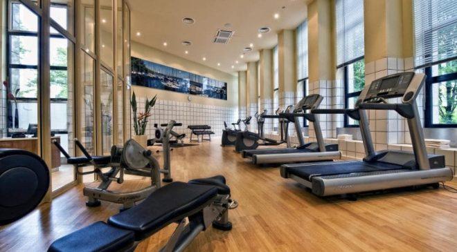 Trung tâm thể hình tại khách sạn Grand Sea có hệ thống máy móc được trang bị hiện đại, đa dạng.