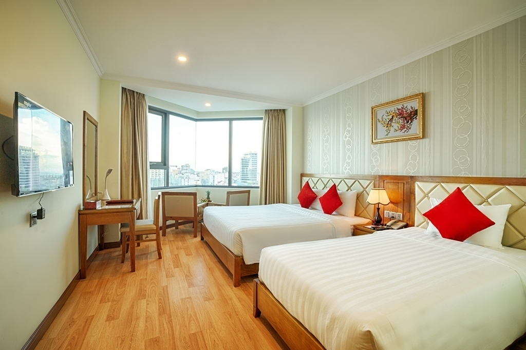 Phòng Deluxe Twin khách sạn Serene Đà Nẵng