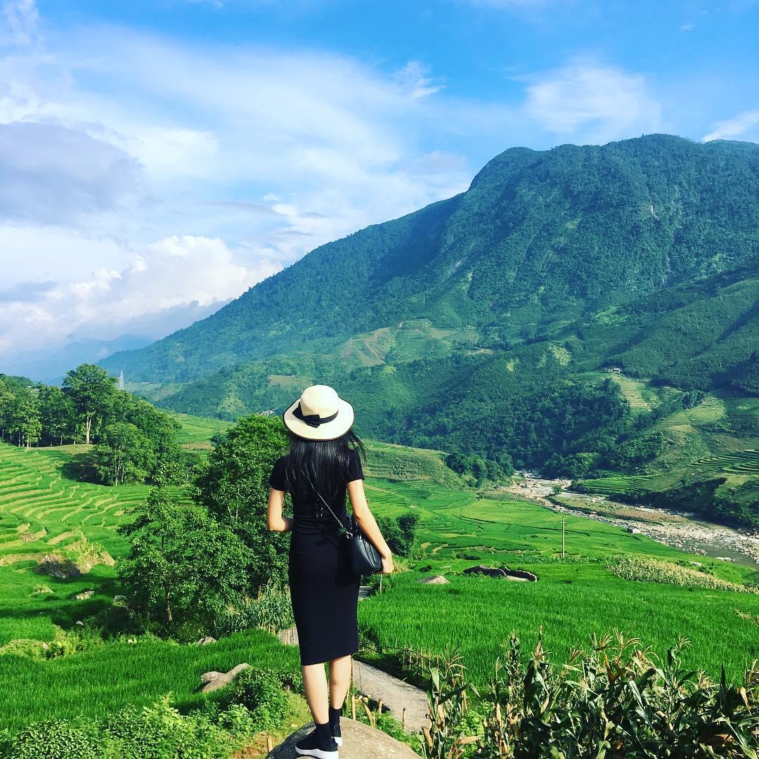 Đường lên núi Hàm Rồng được mệnh danh như đường lên tiên cảnh với nhiều loài hoa đẹp